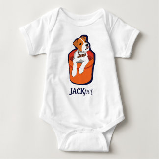 """Jackpot"" Jack Russell Terrier Apperal Baby Bodysuit"