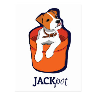 """""""Jackpot"""" Jack Russell Terrier Card"""