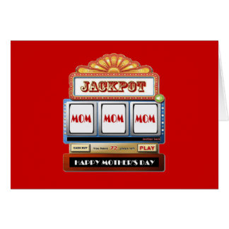JACKPOT MOM Mother's Day Slot Card