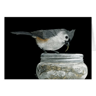 """Jackpot!"" - Tufted Titmouse Card"