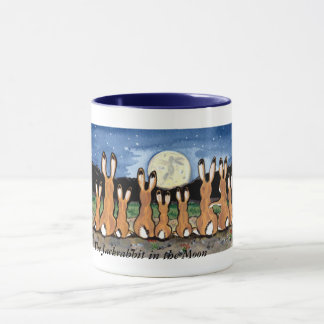 Jackrabbit Family Watching the Moon, Coffee Mug