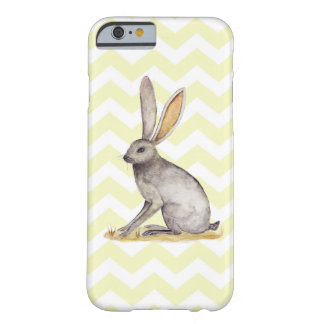 Jackrabbit watercolor painting on chevron pattern barely there iPhone 6 case