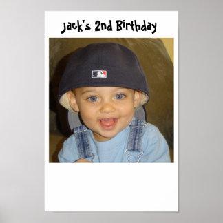 jacks 2nd birthday poster