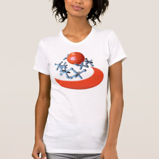 Jacks and Ball Tshirt T-shirt Retro Game Red