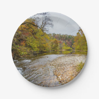 Jacks Fork Autumn Paper Plate
