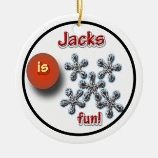 Jacks Game For Kids Ceramic Ornament