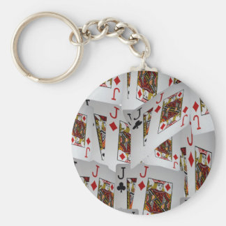 Jacks In A Layered Pattern,_ Basic Round Button Keychain