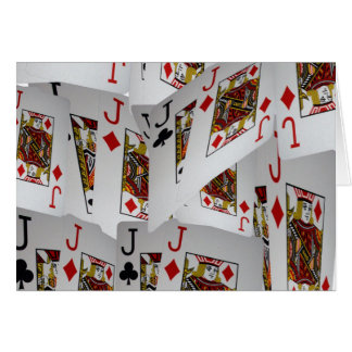 Jacks In A Layered Pattern,_ Card