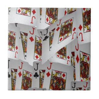 Jacks In A Layered Pattern,_ Ceramic Tiles