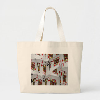 Jacks In A Layered Pattern,_ Large Tote Bag