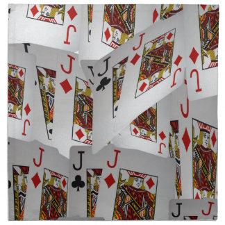 Jacks In A Layered Pattern,_ Napkin