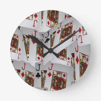 Jacks In A Layered Pattern,_ Round Clock