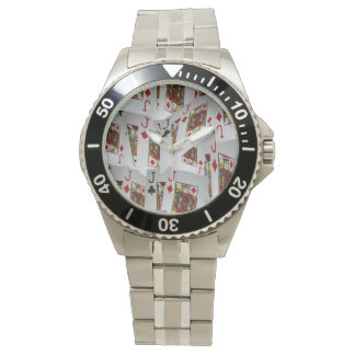 Jacks In Pattern, Mens Stainless Steel Watch. Watch