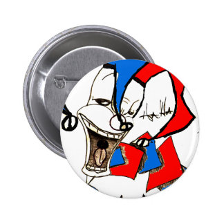 Jacks in the Box (Clown Sketch) 2 Inch Round Button