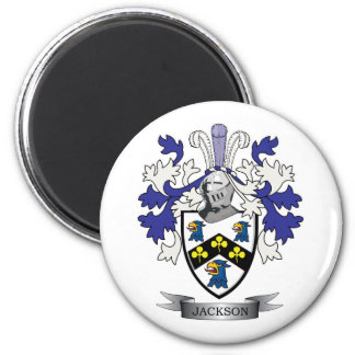 Jackson Coat of Arms 2 Inch Round Magnet