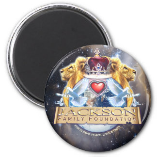 Jackson Family Crest 2 Inch Round Magnet