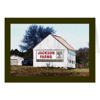 Jackson Farms fresh milk ahead! advert Card