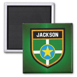 Jackson Flag Square Magnet