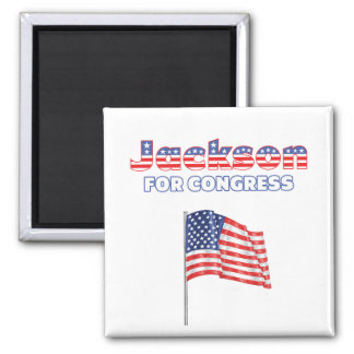Jackson for Congress Patriotic American Flag Square Magnet