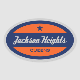 Jackson Heights Oval Sticker
