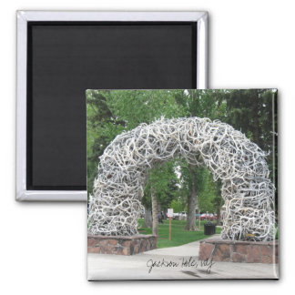 Jackson Hole Antler Arch Square Magnet