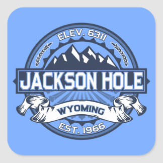 Jackson Hole Blue Square Sticker