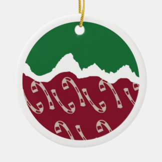 Jackson Hole Christmas Ceramic Ornament