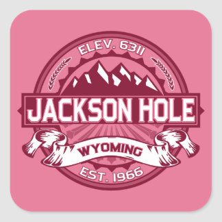 Jackson Hole Honeysuckle Square Sticker