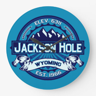 Jackson Hole Ice Large Clock