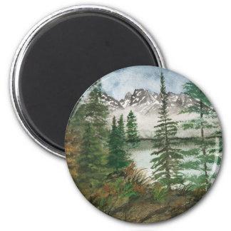 Jackson Hole Jenny Lake 2 Inch Round Magnet