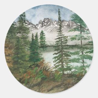 Jackson Hole Jenny Lake Classic Round Sticker
