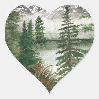 Jackson Hole Jenny Lake Heart Sticker