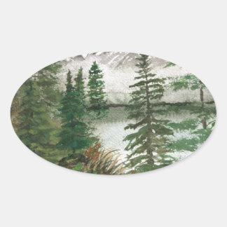 Jackson Hole Jenny Lake Oval Sticker
