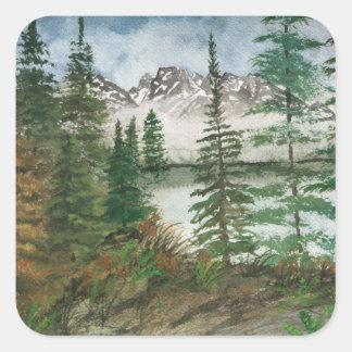 Jackson Hole Jenny Lake Square Sticker