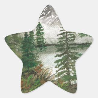 Jackson Hole Jenny Lake Star Sticker