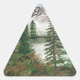 Jackson Hole Jenny Lake Triangle Sticker