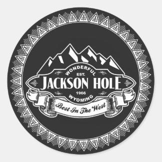 Jackson Hole Mountain Emblem Classic Round Sticker