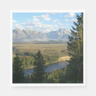 Jackson Hole Mountains and River Disposable Napkin