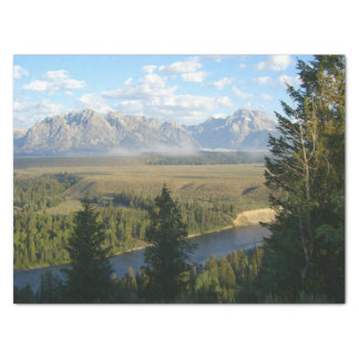 Jackson Hole Mountains and River Tissue Paper