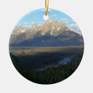 Jackson Hole Mountains (Grand Teton National Park) Ceramic Ornament