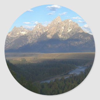 Jackson Hole Mountains (Grand Teton National Park) Classic Round Sticker