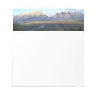 Jackson Hole Mountains (Grand Teton National Park) Notepad