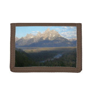 Jackson Hole Mountains (Grand Teton National Park) Tri-fold Wallets