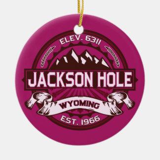 Jackson Hole Raspberry Ceramic Ornament