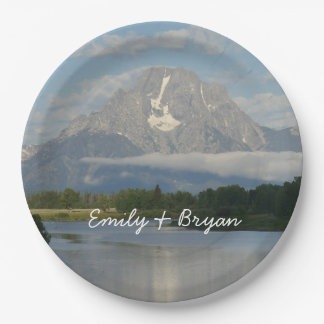 Jackson Hole River Paper Plate