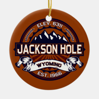Jackson Hole Vibrant Ceramic Ornament