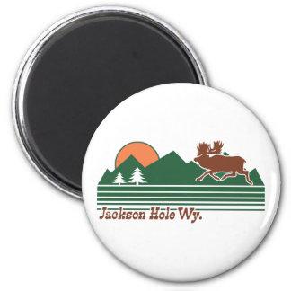 Jackson Hole Wyoming 2 Inch Round Magnet