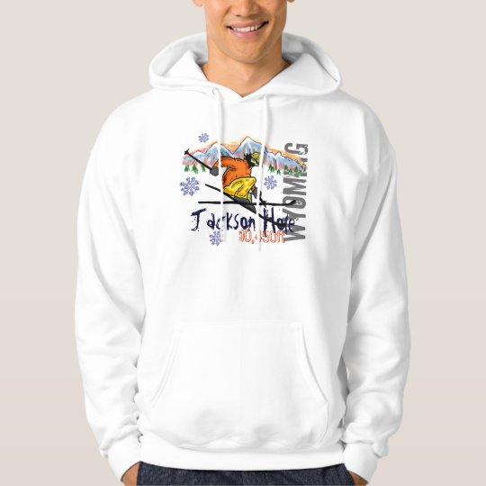 Jackson Hole Wyoming ski elevation hoodie