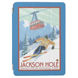 Jackson Hole, Wyoming Skier and Tram iPad Air Cover