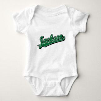 Jackson in Green Baby Bodysuit